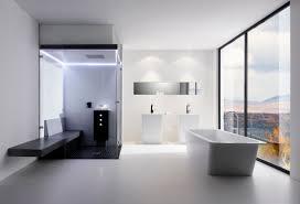 Modern Bathroom Looks White Rectangular Free Standing Luxury Bathtub With Finest Floor