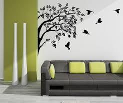 wall art ideas design black vinyl wall art grey wallpaper simple wall art ideas design bird vinyl black shadow below classic pillow sofa grey flock of tree
