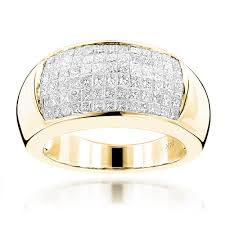 Princess Cut Diamond Wedding Rings by Wide Princess Cut Diamond Wedding Band 1 96ct 14k