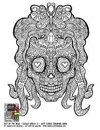 sugar skull coloring pages printable awesome sugar skull coloring