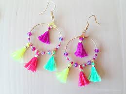 earrings diy diy summer mini tassel earrings petit bout de chou