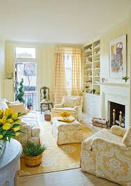 Striped Yellow Curtains Striped Yellow Curtains With Lounge Chairs Living Room Traditional