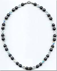 pearls swarovski crystals necklace images Swarovski black pearl with teardrop crystal necklace jpg