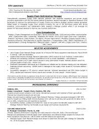 Supply Chain Management Resume Sample by Resume Erik Lopezmalo