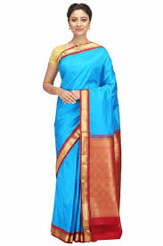 Buy Royal Blue Pure Silk Pure Silk U2013 India Sari House