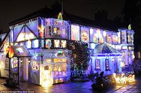 Christmas Home Decor Uk Britain U0027s Best Decorated Christmas House U0027 Owners Spent Four Months