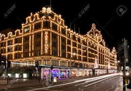Mit Kauf Haus London Großbritannien 24 November 2013 Langzeitbelichtung