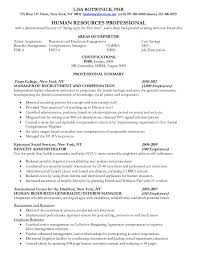 Sample Resumes For Hr Professionals by Human Resources Professional Resume Free Resume Samples Amp
