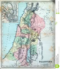 Map Of Palestine Antique Map Of Palestine Royalty Free Stock Images Image 37050349