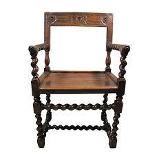 chaises louis xiii chaise à bras louis xiii à colonnes torsadées à vendre r39