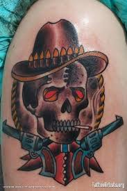 collection of 25 cowboy skull and crossed pistol designs