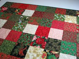 quilted throw christmas patchwork quilted throw red green gold