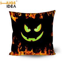 hugsidea halloween pumpkin spider home cushion decorative pillow