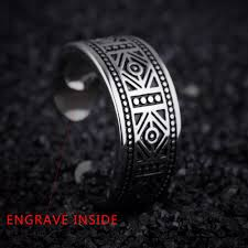 Engrave Gifts Aliexpress Com Buy Gagafeel Men Ring Letter Engrave Diy Logo