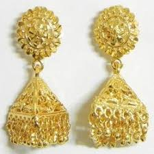 gold jhumka earrings designer gold jhumkas at rs 2500 gram gold jhumka gold jhumke