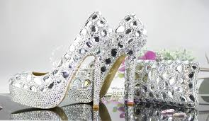 wedding shoes and bags aliexpress buy new fashion handmade cinderella silver
