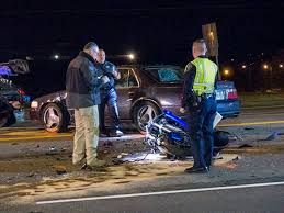police motorcyclist dies in two vehicle crash on north illinois
