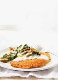 ricardo cuisine com escalopes de veau au parmesan poêlée de chignons aux épinards et