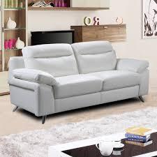 White Leather Sofa Modern Italian Inspired Modern White Leather Sofa Collection