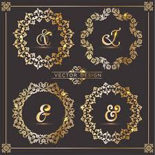 four luxury frames with ornaments vector free