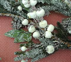 frosted fir cone berry garland tutti decor ltd