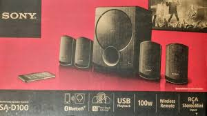 rca 100 watt dvd home theater sony woofer 4 1 sa d100 latest model unboxing u0026 review youtube