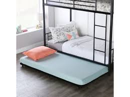 twin roll out trundle bed frame bt40tbbl