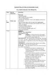 english teaching worksheets drama