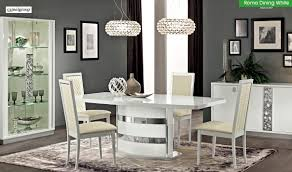 roma dining room set in white high gloss free shipping get