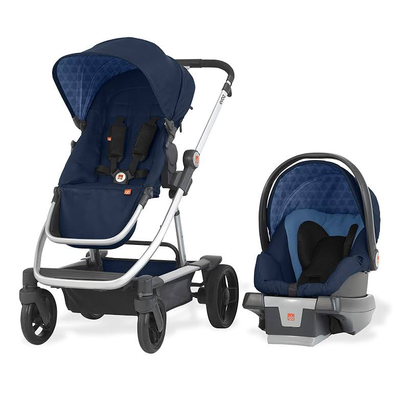 Gb Evoq 4 In 1 Infant Safe Car Seat Stroller Compact Travel System, Midnight