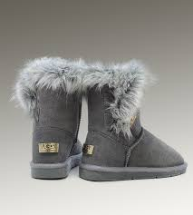 ugg slippers on sale discount ugg moccasins cheap on sale ugg fox fur boots 5685 grey