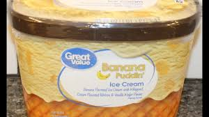 great value banana puddin u0027 ice cream review youtube