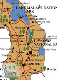 africa map malawi liwonde national park safari guide africa