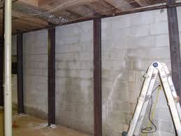 bowing basement wall repair amazing home design contemporary under