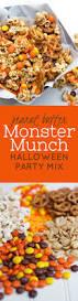 thanksgiving day snacks peanut butter monster munch halloween party mix recipe monster