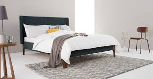 Luxury Super King Size Bed Roscoe Super Kingsize Bed Aegean Blue Made Com