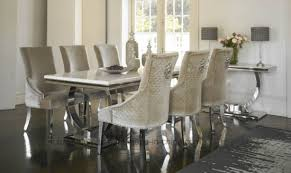 marble and stainless steel dining table china modern ivory cream marble top arianna chrome dining table