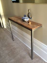 Hairpin Leg Console Table Console Tables 2 Leg Console Table Metal And Oak Legs For Sofa