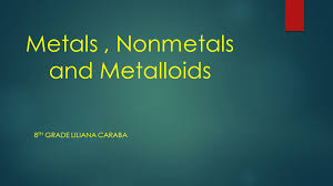 metals nonmetals and metalloids ppt video online download