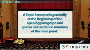 Thesis Sentences Writing Main Idea Thesis Statement Topic Sentences Video