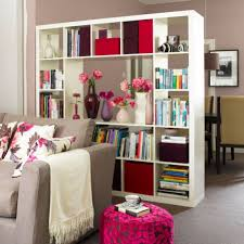 Large Room Dividers This White Open Bookcase Divides One Large Space Into Two Separate