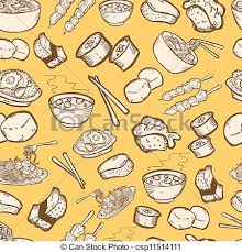 seamless pattern food food seamless pattern vector clip art search illustration
