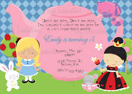 Invitation Card For A Birthday Party Printable Alice In Wonderland Birthday Party Invitation Plus