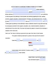 Power Of Attorney Financial Form by South Dakota General Financial Power Of Attorney Form Power Of