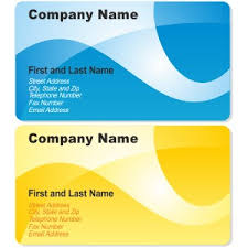 company cards blue and yellow business cards vector freevectors net