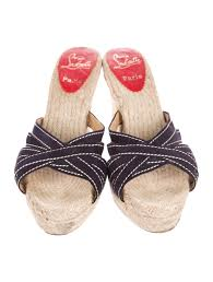 christian louboutin espadrille wedge sandals shoes cht80909