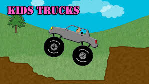 kids trucks gray monster truck stunts
