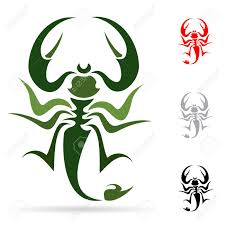 tattoo in the form of the stylized scorpion royalty free cliparts