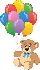 teddy balloons teddy with colorful balloons vector vector free