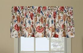 Jacobean Floral Curtains Cornwall Thermal Insulated Tailored Valance Window Curtain With
